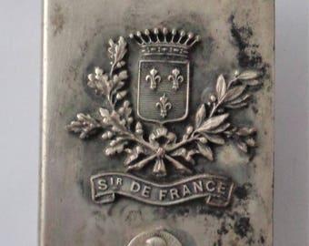 Rare Old Metal Holder ST. Joan of Arc
