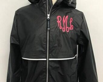 FREE SHIPPING Monogrammed Rain Jacket - Monogrammed Rain Coat - Rain Jacket - Rain Coat - Monogram Rain Jacket - Monogram Rain Coat
