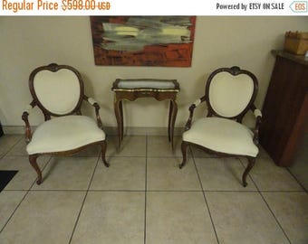 35% Off Summer Sale Elegant Pair of Ornate French Chairs Stylish Free Shipping in the Continental US
