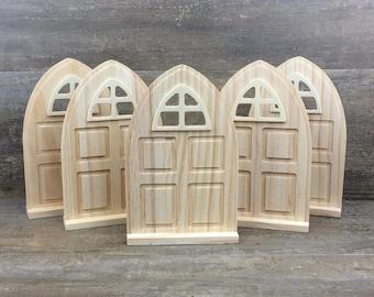 Diy fairy garden accessories grab bag kids craft fairy for Unfinished fairy door