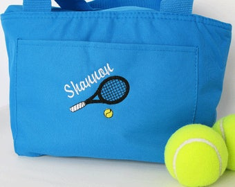 "Tennis Gifts - Tennis Cooler -  ""Six Pack Tennis Cooler in Turquoise"""