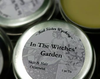 In the Witches Garden Skin & Hair Salve~ Skin Care Salve ~ Healers Salve ~ Ointment ~ Herbal Ointment ~ Citrus Patchouli Blend 1oz