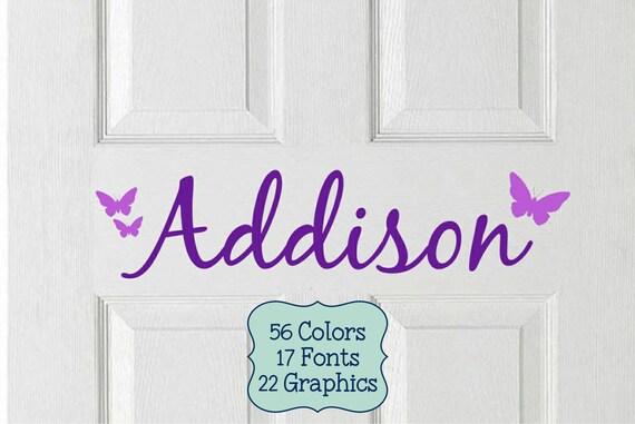 Like this item. Kids Door Vinyl Decal Kids Name Sticker Kids Door Sign