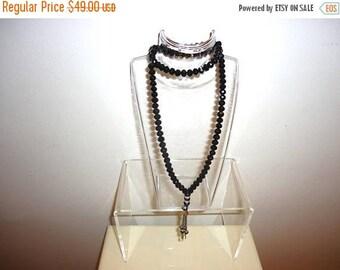 50% OFF Faceted Swarovski Black Beaded Crystal Necklace