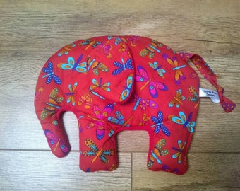 Elephant Wheat Bag,  Microwavable Heating Pad, Hottie, Cool Pack.