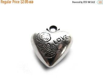 HALF PRICE 10 Silver Heart Love Charms