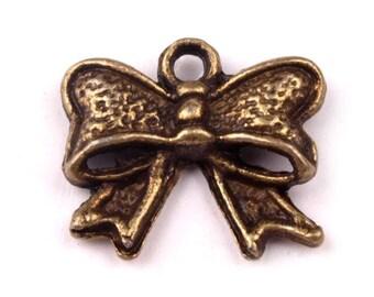 Bronze 4Charm ribbon bow charm