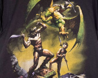 1985 BORIS VALLEJO t shirt - vintage 80s - fantasy art - screen stars - heavy metal magazine - deadstock