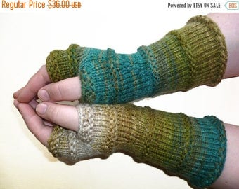 SALE 20% OFF Knit Fingerless gloves | Arm warmers | Womens Fingerless | Long Mittens | Wrist warmers | Mismatched Gloves |