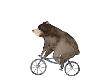 Bear on Bike Print