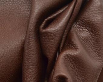 "Sassy Seal Brown ""Butterlicious""4.1 Square Foot 3 ounces Leather Cowhide Project Piece grainy DE-66048 (Sec. 2,Shelf 1,A)"
