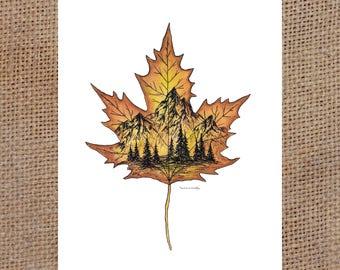 Maple Leaf - Watercolor Print