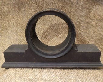 Mantle Clock Case, Empty Clock Casing, Antique Wood Clock Holder