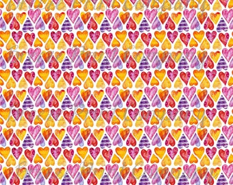Watercolor HTV heart pattern craft craft vinyl sheet - HTV or Adhesive Vinyl -  Valentine's Day HTV3958