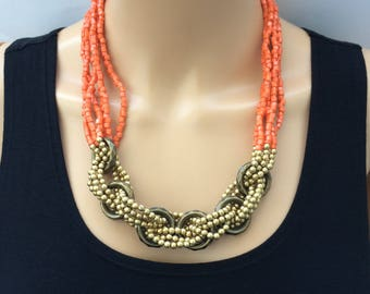 Statement Seed Beaded Necklace