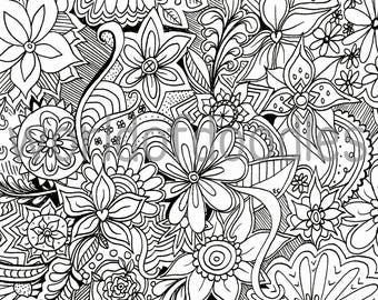 Summer coloring page Etsy