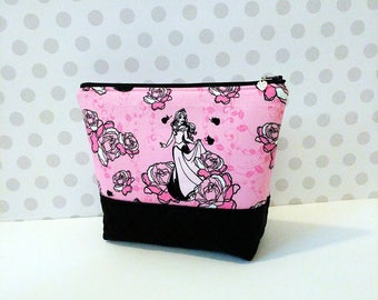 Large Makeup Pouch /  Sleeping Beauty Pink