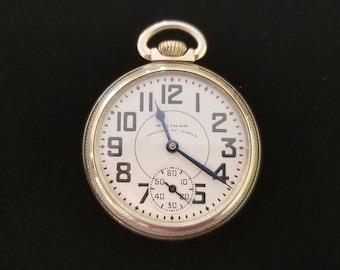 ANTIQUE Vintage Railroad Pocket Watch WALTHAM Vanguard 23 jewels, Excellent running condition, Gold Filled