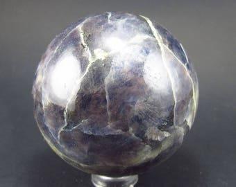 """Rare Iolite Cordierite Sphere from Tanzania - 199 Grams - 2.1"""""""