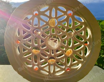Crystal light Grid based on The Flower of life  Sacred Geometry