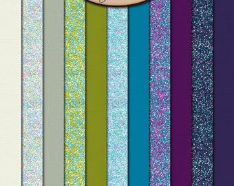 Digital Scrapbook, Paper, Glitter and Solids: Thankful