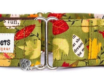 "Noddy & Sweets Adjustable Martingale Collar [1"", 1.5"", 2"" Sherwood]"