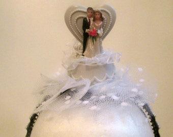 BRIDAL HAIRBAND, fun bridal shower, gag gift for bride, bachelorette wear, wedding cake, gift for bride, white trash bride, shower gift