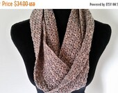 ON SALE Infinity Cowl Scarf - Circle Scarf, Handmade Neckwarmer Scarf, Cowl Scarf, Unisex Scarf, Chunky Scarf, Gift for Her