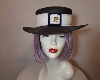 FREE  SHIPPING  Vintage  Couture  Wide Brim  Hat