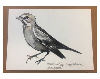 Lark Sparrow Trail Painting