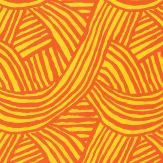 RAKED Pumpkin Orange ARTISAN by Kaffe Fassett Sold in 1/2 yd increments