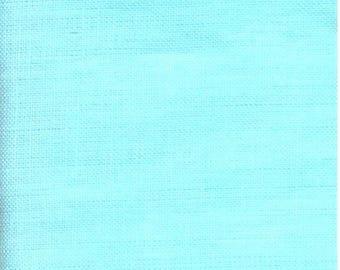 Aqua blue linen fabric