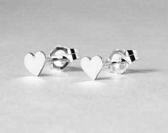 Large Heart Earring Studs- FREE SHIPPING