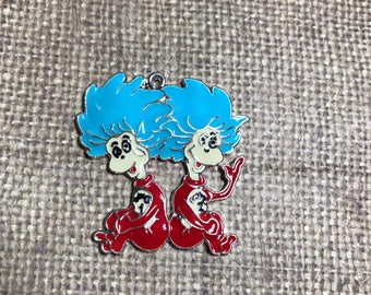 Thing 1 and Thing 2 Pendant