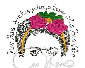 MACHINE EMBROIDERY DESIGN - Frida Kahlo