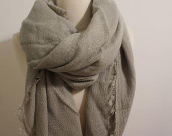 Blanket Scarf Gray White - Plaid Blanket Scarf