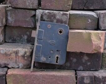 Old Door Mortise Vintage Antique Orbin Salvaged Door Hardware