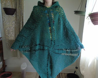 Elfin Crochet Poncho