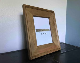 Hemlock Picture Frame  - Holds 8 x 10  - Handcrafted out of Solid Hemlock