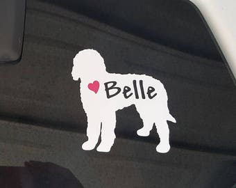Golden Doodle Car Decal, Golden Doodle Dog Decal, Sticker,Goldendoodle
