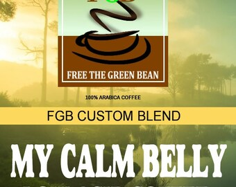 Low Acid Coffee. Free the Green Bean's My Calm Belly Coffee Blend is a low acid coffee for a calm stomach.