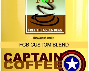 Fresh roasted coffee, CAPTAIN COFFEE freedom blend, a vibrant, delectable aroma. 2oz Sampler is great for one pot of coffee 8-10 cups