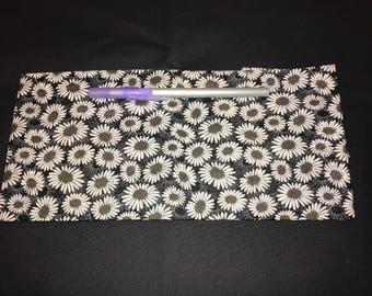 Daisies Pencil Case, Coin Purse, Wristlet, Cosmetic Bag