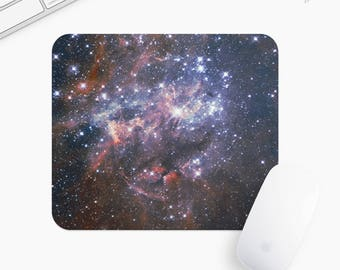 Galaxy and Stars Mouse Pad, Universe Mousepad, Rectangle or Round, Gift mp0008