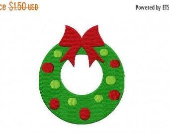50% OFF - 4X4 Christmas Wreath Machine Embroidery Design Multiple Formats Available - Instant Download