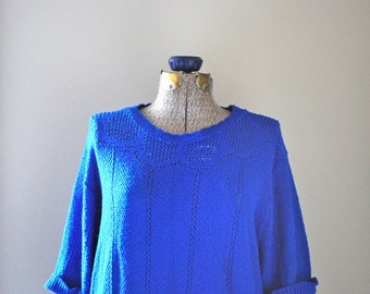Oversized electric blue sweater
