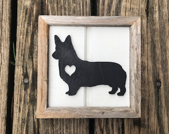 custom dog boxwood sign