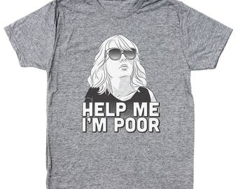 Help Me I'm Poor Funny Humor Bridesmaid Gift Men's Tri-Blend T-Shirt DT0995