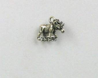 Sterling Silver 3-D Moose Charm