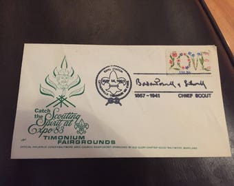 Scouting Spirit Expo 1983 Cover envelope
